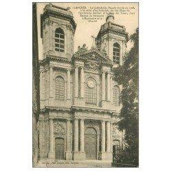 carte postale ancienne 52 LANGRES. Cathédrale façade