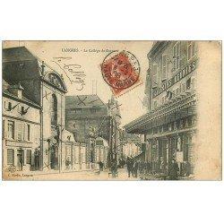 carte postale ancienne 52 LANGRES. Collège de Garçons 1908. Galeries Réunies