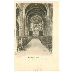 carte postale ancienne 52 LANGRES. Eglise Saint-Martin vers 1900