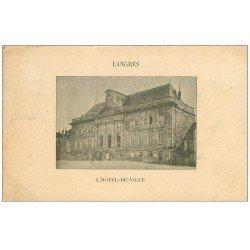 carte postale ancienne 52 LANGRES. Hôtel de Ville 1902