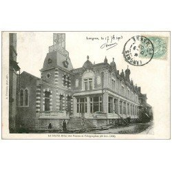 carte postale ancienne 52 LANGRES. Hôtel des Postes et Télégraphes 1903