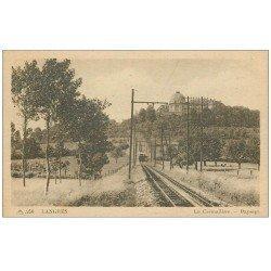carte postale ancienne 52 LANGRES. La Crémaillière. Train