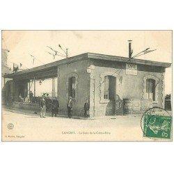 carte postale ancienne 52 LANGRES. La Gare de la Crémaillière 1907 avec vespasiennes