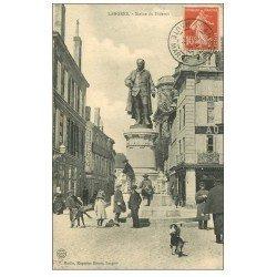 carte postale ancienne 52 LANGRES. La Statue de Diderot 1911