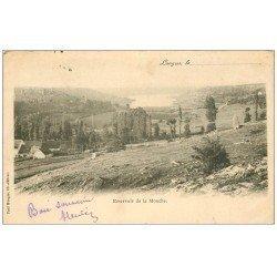 carte postale ancienne 52 LANGRES. Réservoir de la Mouche 1902. Timbre manquant