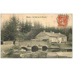 carte postale ancienne 52 MANOIS. Le Pont sur la Manoise 1912