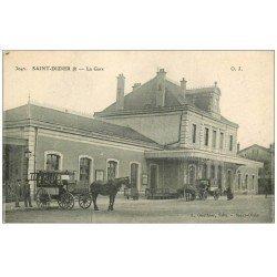 carte postale ancienne 52 SAINT-DIZIER. La Gare 1917