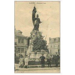carte postale ancienne 52 SAINT-DIZIER. Monument aux Morts 1917. Hôtel de France