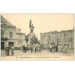 carte postale ancienne 52 SAINT-DIZIER. Monument Place Hôtel de Ville