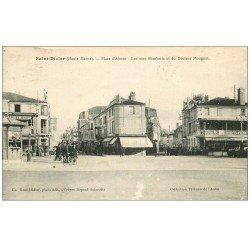 carte postale ancienne 52 SAINT-DIZIER. Place d'Armes. Rues Gambetta et Docteur Mougeot 1935
