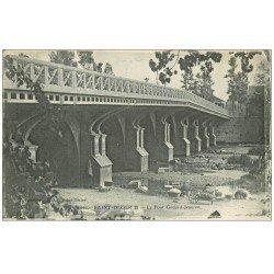 carte postale ancienne 52 SAINT-DIZIER. Pont Godard-Jeanson Lavandières Laveuses