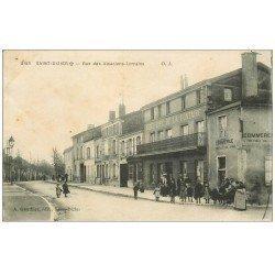carte postale ancienne 52 SAINT-DIZIER. Rue des Alsaciens-lorrains 1917. Hôtel Café de la Fontaine