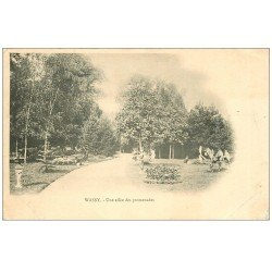 carte postale ancienne 52 WASSY. Allée des Promenades 1902