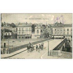 carte postale ancienne 53 CHATEAU-GONTIER. Les Ponts 1916