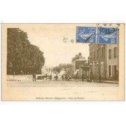 carte postale ancienne 53 CHATEAU-GONTIER. Rue de Razilly 1935