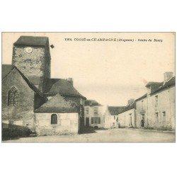 carte postale ancienne 53 COSSE-EN-CHAMPAGNE. Centre du Bourg personnage