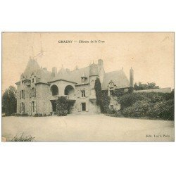 carte postale ancienne 53 GRAZAY. Château de la Cour 1909