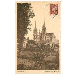 carte postale ancienne 53 PONTMAIN. Basilique 1943