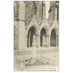 carte postale ancienne 53 PONTMAIN. Basilique Colonne Apparition