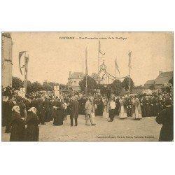 carte postale ancienne 53 PONTMAIN. Basilique Procession