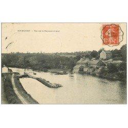 carte postale ancienne 53 ROCHEFORT. La Mayenne et Ecluse 1911