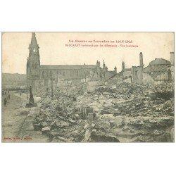 carte postale ancienne 54 BACCARAT. Guerre 1914-15 bombardé