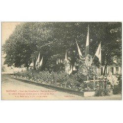 carte postale ancienne 54 BACCARAT. Tombes Cour des Cristalleries 1916