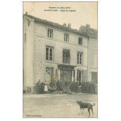 carte postale ancienne 54 BADONVILLER ou BADONVILLERS. Café du Centre 1915. militaires et Douaniers