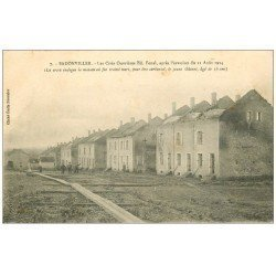 carte postale ancienne 54 BADONVILLER ou BADONVILLERS. Cités Ouvrières 1917