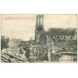 carte postale ancienne 54 GERBEVILLER. Eglise après le bombardement 1916