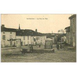 carte postale ancienne 54 GERBEVILLER. Rue de l'Est Fontaine abreuvoir