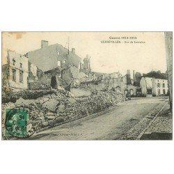 carte postale ancienne 54 GERBEVILLER. Rue de Lorraine 1915