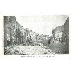 carte postale ancienne 54 GERBEVILLER-LA-MARTYRE. 1914 Rue Gambetta