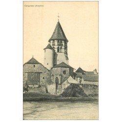 carte postale ancienne 12 CEIGNAC. L'Eglise 1915 Tampon militaire