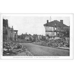 carte postale ancienne 54 GERBEVILLER-LA-MARTYRE. 1914 Rue Saint-Pierre Place Horloge