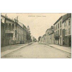 carte postale ancienne 54 LUNEVILLE. Avenue Voltaire 1924 Bal et Café Bar
