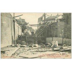 carte postale ancienne 54 LUNEVILLE. Enfants sur le Pont de Menil détruit 1914