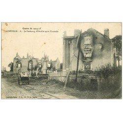 carte postale ancienne 54 LUNEVILLE. Faubourg d'Einville 1915