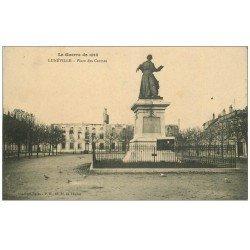 carte postale ancienne 54 LUNEVILLE. Place des Carmes