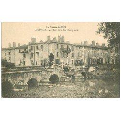 carte postale ancienne 54 LUNEVILLE. Pont de la Rue Chanzy