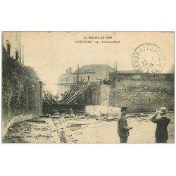carte postale ancienne 54 LUNEVILLE. Pont de Ménil 1915