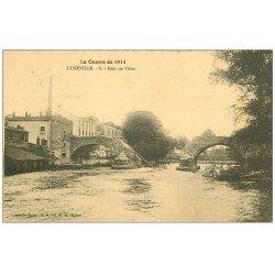 carte postale ancienne 54 LUNEVILLE. Pont de Viller 1914