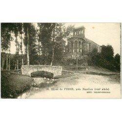 carte postale ancienne 12 Eglise de PERSE près Espalion 1935