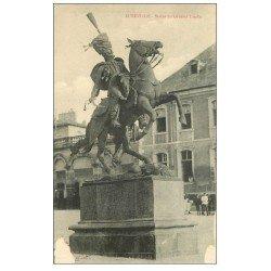 carte postale ancienne 54 LUNEVILLE. Statue du Général Lasalle (blancs coins inférieurs)