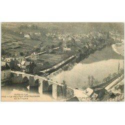 carte postale ancienne 12 ENTRAYGUES. Vieux Pont sur la Truyère