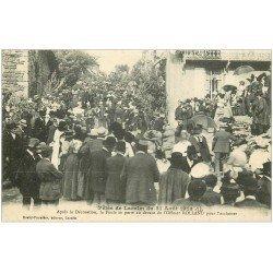 carte postale ancienne 12 Fêtes de LACALM. Décoration de l'Officier Rolland en 1913