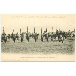 54 PLATEAU DE MALZEVILLE en 1906. Général Bailloud. Remise des Décorations Drapeaux et Etendarts du 20° Corps