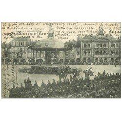 carte postale ancienne 54 PONT-A-MOUSSON. 12° Dragons Revue du Colonnel Urbach 1907