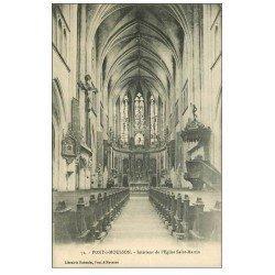 carte postale ancienne 54 PONT-A-MOUSSON. Eglise Saint-Martin 1918