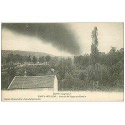 carte postale ancienne 54 PONT-A-MOUSSON. Incendie de Pagny-sur-Moselle 1916